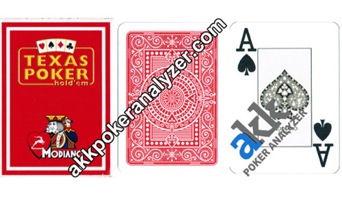 Modiano Texas Holdem Marked Poker Cards