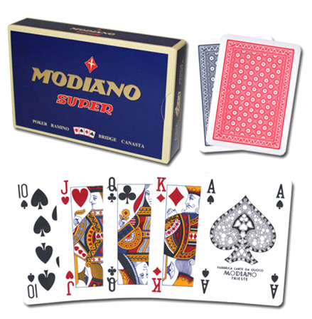 Modiano Super Fiori 4-PIP Marked Poker Cards