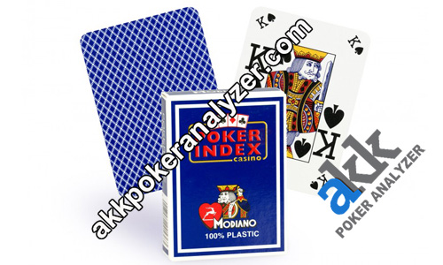 Poker Index Modiano Luminous Playing Cards