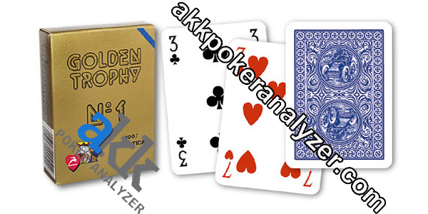 Modiano Jumbo Golden Trophy Marked Poker Cards