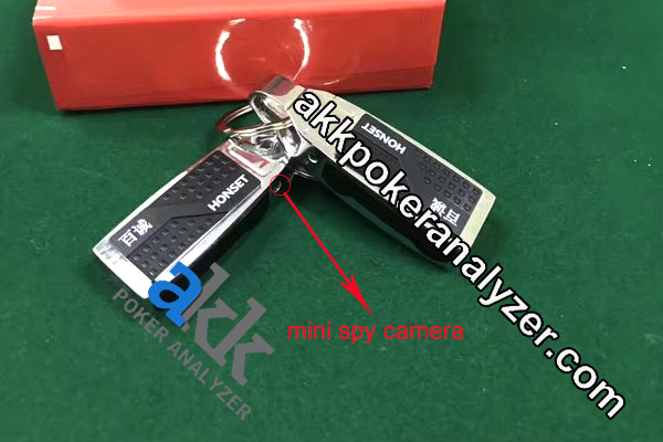 Metal Key Chain Infrared Poker Camera