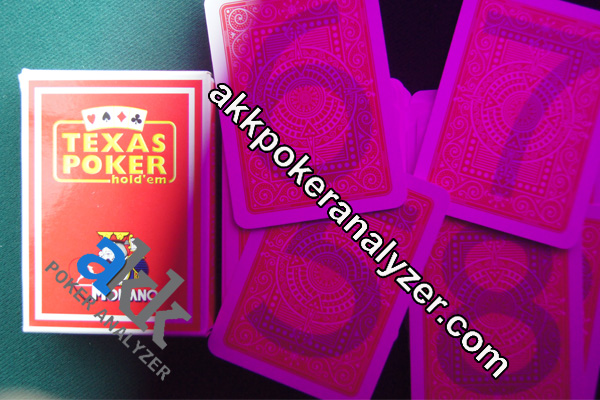 Invisible Ink Marked Cards for Poker Cheat