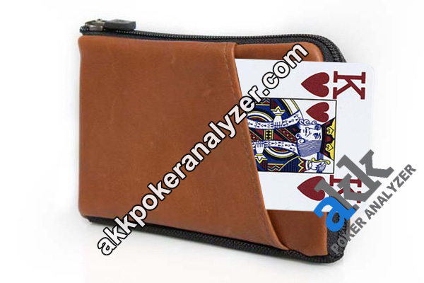 Leather Wallet Playing Cards Exchanger